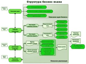схема стуктуры бизнес-плана