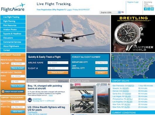 стартап FlightAware_site