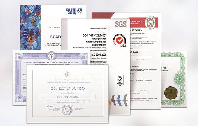 Сертификаты Хеликс