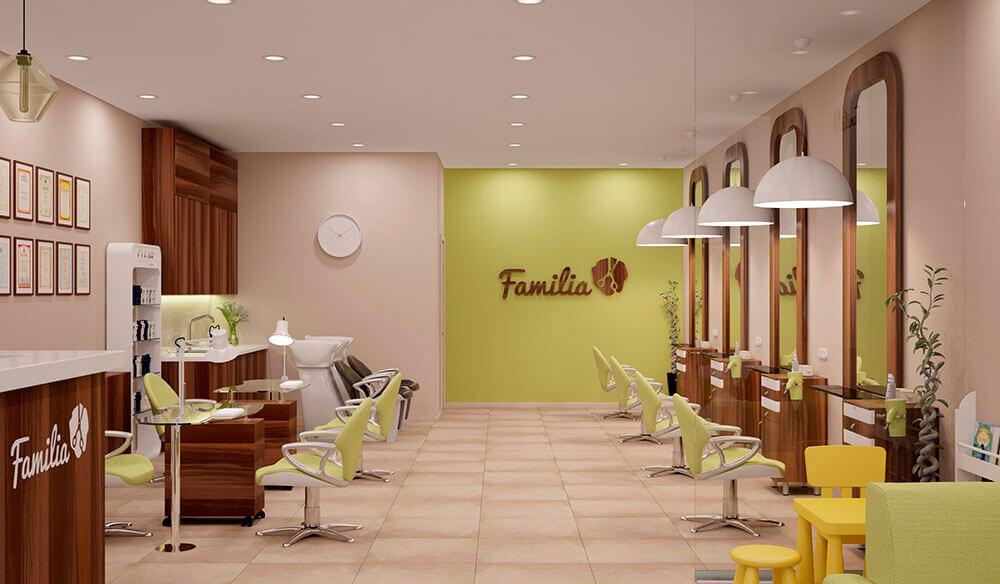 интерьер салона красоты с Familia
